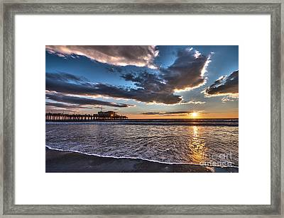 Sunset At Santa Monica. Framed Print