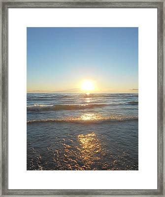 Sunset At Sauble Beach  Framed Print