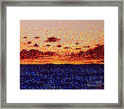 Sunset At Sea Framed Print by Alan Hogan