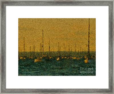 Sunset At Sea Cliff Framed Print by Jeff Breiman