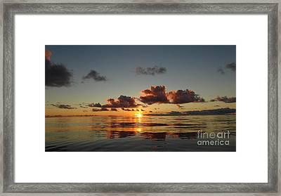 Sunset At Sea Framed Print