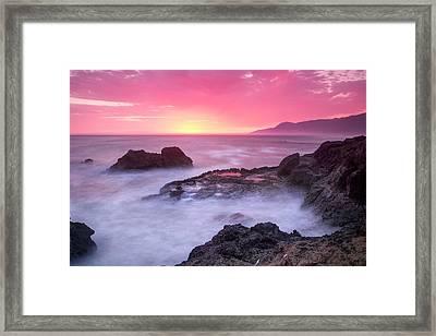 Sunset At Shelter Cove Framed Print