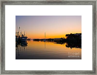 Sunset At Shem Creek Framed Print by Matthew Trudeau