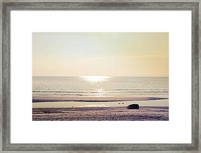 Sunset At Silver Framed Print