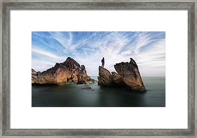 Sunset At Sipitang Framed Print by Sinography