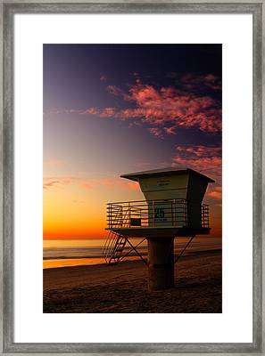 Sunset At South Carlsbad State Park Framed Print by Eric Foltz