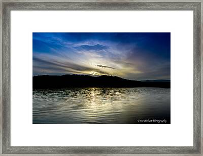 Sunset At South Tellico Lake Framed Print by Paul Herrmann