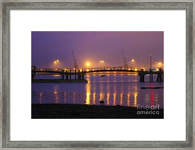 Sunset At Southampton Docks Framed Print by Terri Waters