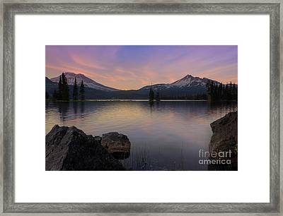 Sunset At Sparks Lake Framed Print