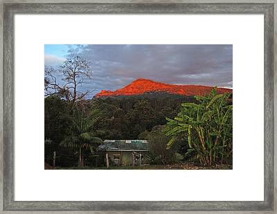 Framed Print featuring the photograph Sunset At Sphinx Rock by Ankya Klay
