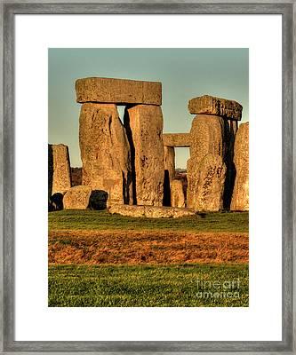 Sunset At Stonehenge 2 Framed Print by Deborah Smolinske