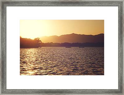 Sunset At Summer Palace Framed Print by Yew Kwang