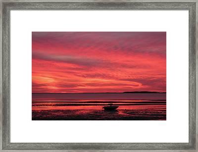 Sunset At Sunken Meadow Beach Framed Print by Ronald Zincone-vwpics