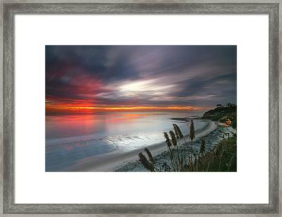 Sunset At Swamis Beach 4 Framed Print by Larry Marshall