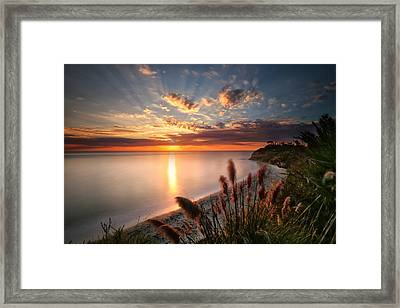 Sunset At Swamis Beach 7 Framed Print by Larry Marshall