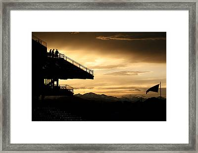 Sunset At The Ball Park Framed Print by Marilyn Hunt