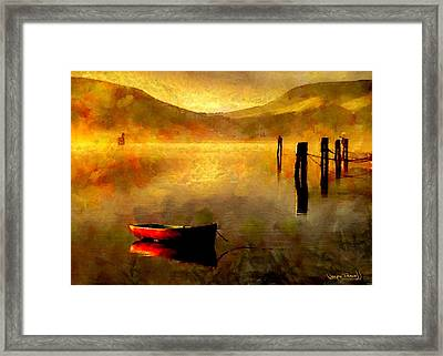 Sunset At The Bay Framed Print