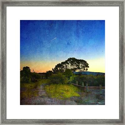 Sunset At The Baylands Framed Print