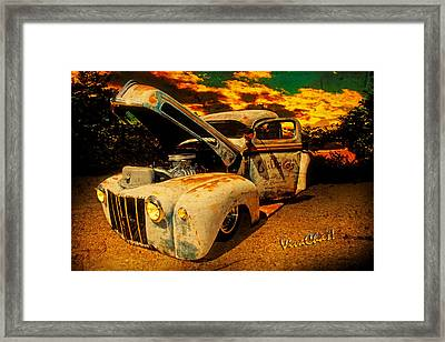 Sunset At The Blanco River Framed Print by Chas Sinklier
