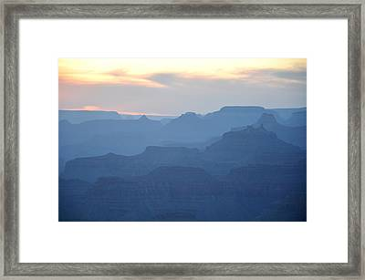 Sunset At The Cayon Framed Print