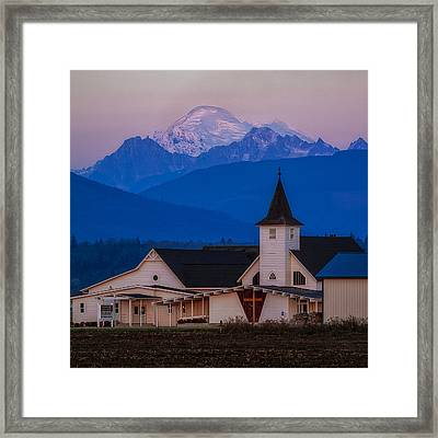 Sunset At The Chapel Framed Print