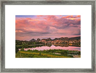 Sunset At The Dells Framed Print by Medicine Tree Studios