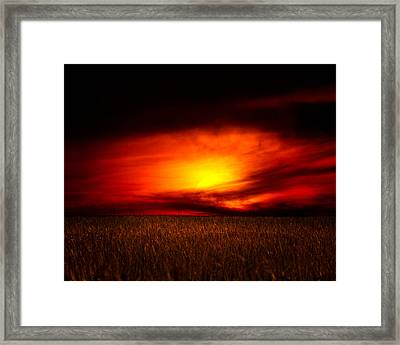 Sunset At The Edge Of The World Framed Print by Mark Andrew Thomas