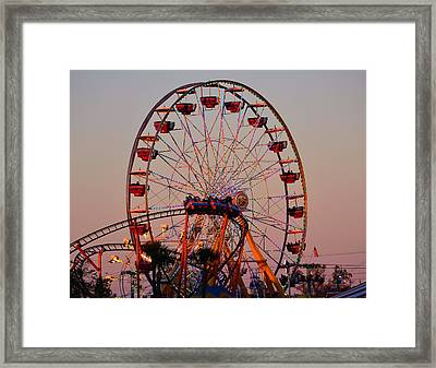Sunset At The Fair Framed Print by David Lee Thompson