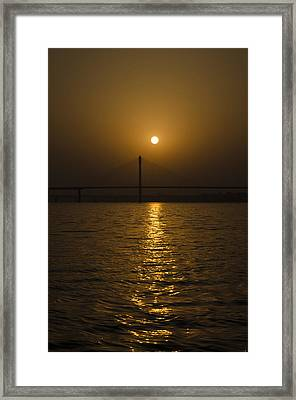 Sunset At The Ganga - Allahabad Framed Print by Rohit Chawla