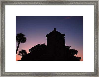 Sunset At The Gate Framed Print