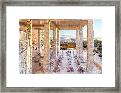 Sunset At The Getty Framed Print