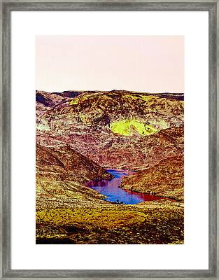Sunset At The Grand Canyon Framed Print by Bob and Nadine Johnston
