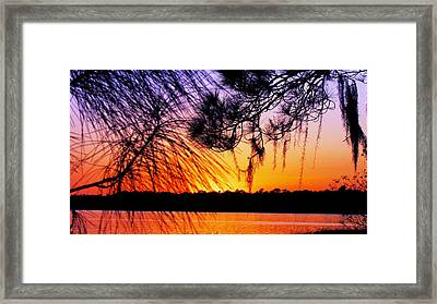 Sunset At The Lake 2 Framed Print by Will Boutin Photos