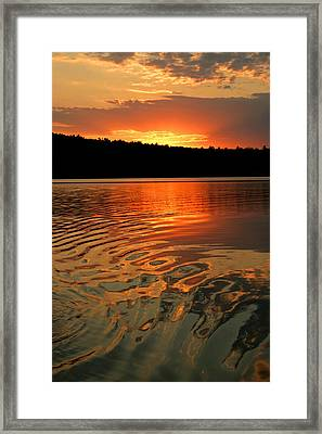 Framed Print featuring the photograph Sunset At The Lake by Barbara West