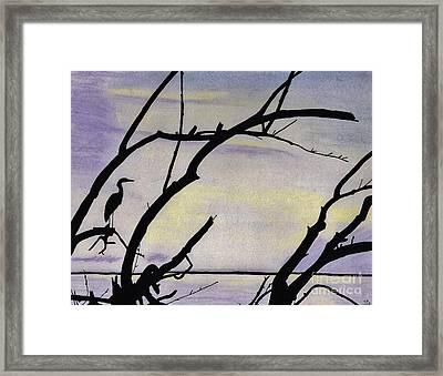 Sunset - At The - Lake Framed Print