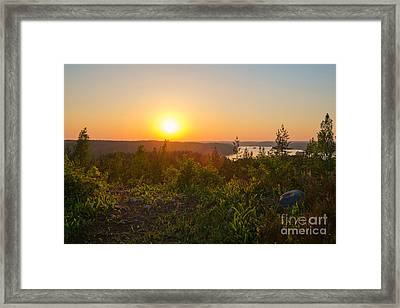Sunset At The Lake Hiidenvesi Framed Print
