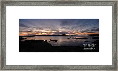 Sunset Over Lake Myvatn In Iceland Framed Print by IPics Photography