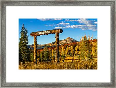 Sunset At The Lazy Ass Ranch Framed Print