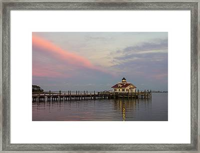 Sunset At The Lighthouse Framed Print by Gregg Southard