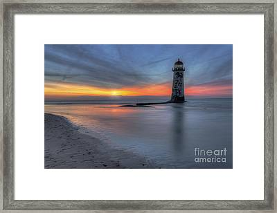 Sunset At The Lighthouse V3 Framed Print by Ian Mitchell