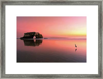 Sunset At The Natural Bridge-2 Framed Print