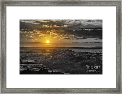 Sunset At The Ocean Framed Print