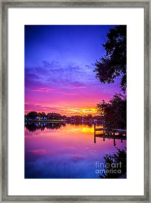 Sunset At The Pier Framed Print by Marvin Spates