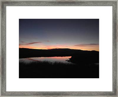 Sunset At The Pit River Framed Print by James Rishel