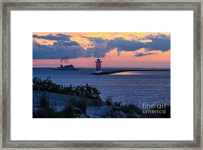 Sunset At The Point Framed Print
