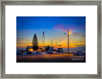 Sunset At The Post Framed Print