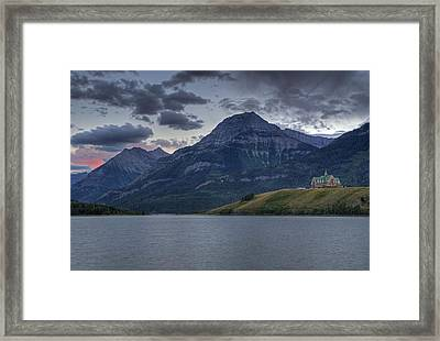 Sunset At The Prince Of Wales Framed Print