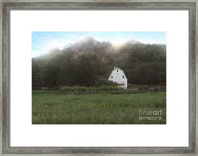 Sunset At The Ranch Framed Print by Cristophers Dream Artistry