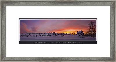 Sunset At The Rocks Framed Print