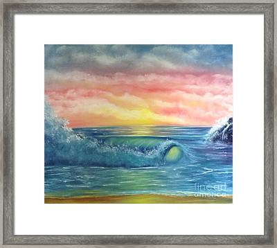 Sunset At The Seashore  Framed Print by Becky Lupe